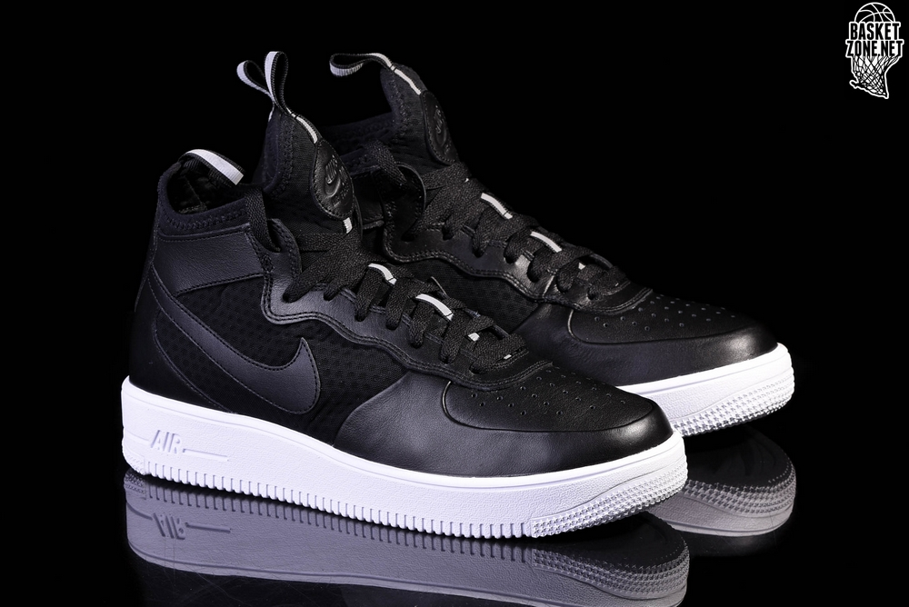 NIKE AIR FORCE 1 ULTRAFORCE MID BLACK WHITE für ?105,00
