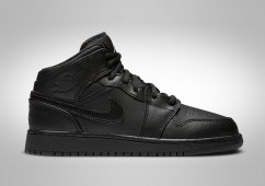 NIKE AIR JORDAN 1 RETRO MID GS BLACK
