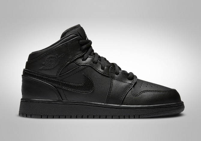best website 3cba4 d9f1e NIKE AIR JORDAN 1 RETRO MID GS BLACK