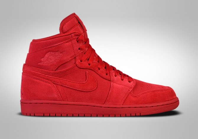 sale retailer 66ccd 6ae2c NIKE AIR JORDAN 1 RETRO HIGH RED SUEDE