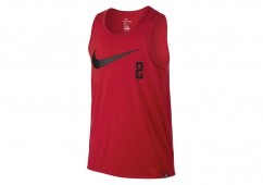 NIKE DRY KYRIE SWOOSH TANK UNIVERSITY RED