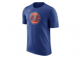 NIKE NBA NEW YORK KNICKS DRY LOGO TEE RUSH BLUE