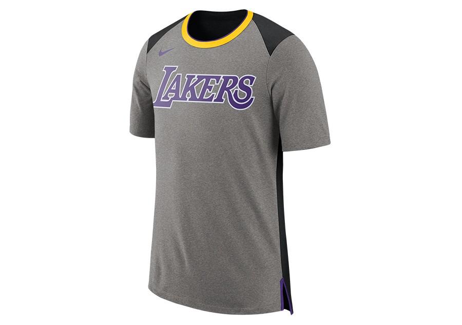 ffb4a20533 NIKE NBA LOS ANGELES LAKERS TOP FAN DK GREY HEATHER pour €27,50 ...