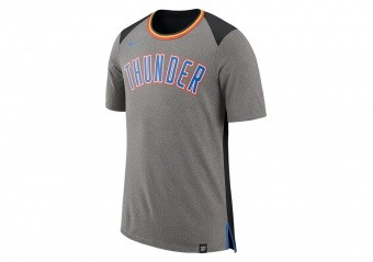 NIKE NBA OKLAHOMA CITY THUNDER TOP FAN DK GREY HEATHER