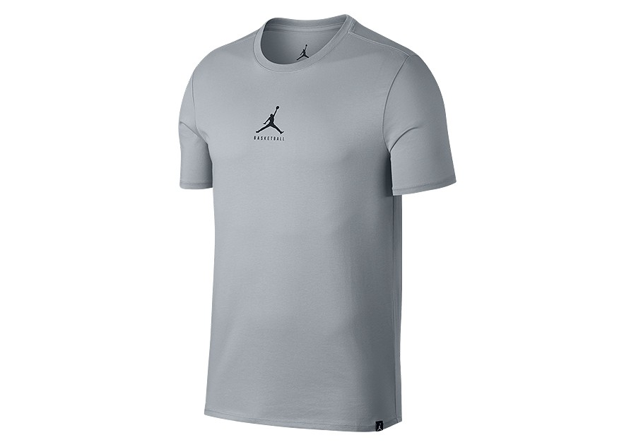 bb213e02ac10 NIKE AIR JORDAN DRY 23 7 JUMPMAN BASKETBALL TEE WOLF GREY price ...