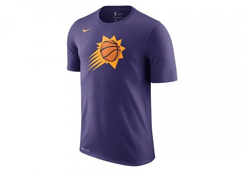 NIKE NBA PHOENIX SUNS DRY LOGO TEE NEW ORCHID