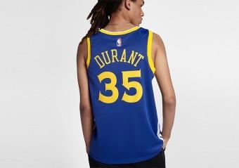 NIKE NBA GOLDEN STATE WARRIORS KEVIN DURANT SWINGMAN JERSEY ROAD RUSH BLUE