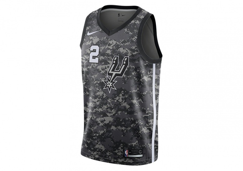NIKE NBA KAWHI LEONARD SAN ANTONIO SPURS CITY EDITION SWINGMAN JERSEY GREY