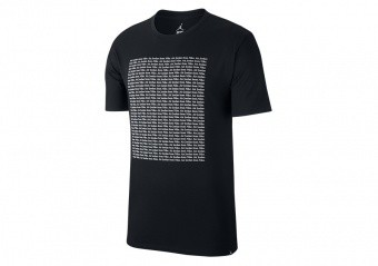 NIKE AIR JORDAN SPORTSWEAR WINGS FLC 1 TEE BLACK