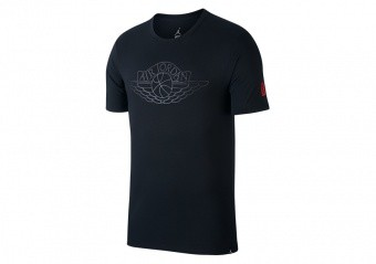 NIKE AIR JORDAN RISE SHORT-SLEEVE BASKETBALL TEE BLACK