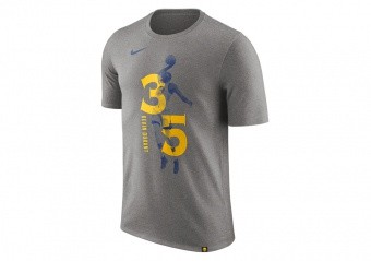 NIKE NBA KEVIN DURANT GOLDEN STATE WARRIORS TEE DARK GREY HEATHER