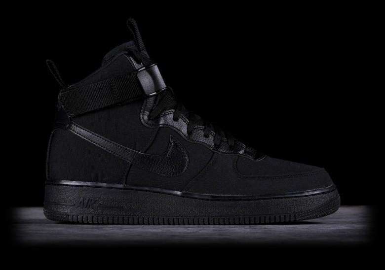 High 1 Black Canvas Nike '07 Per Force Air Lq35A4jR