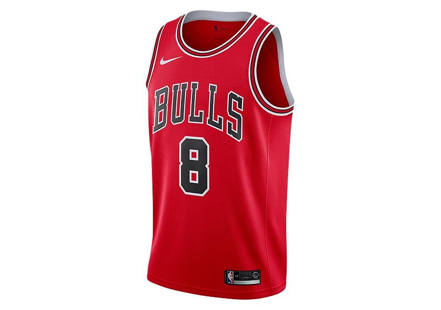 b2858650 NIKE NBA ZACH LAVINE CHICAGO BULLS SWINGMAN JERSEY ROAD UNIVERSITY RED per  €77,50   Basketzone.net