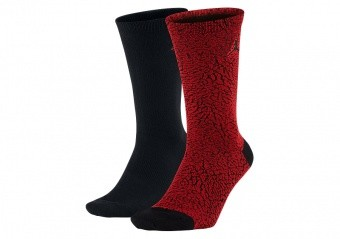 NIKE AIR JORDAN ELEPHANT CREW SOCKS GYM RED BLACK