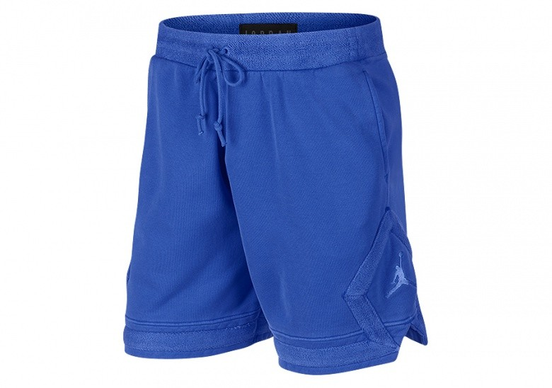 NIKE AIR JORDAN WASHED DIAMOND FLEECE SHORTS HYPER ROYAL