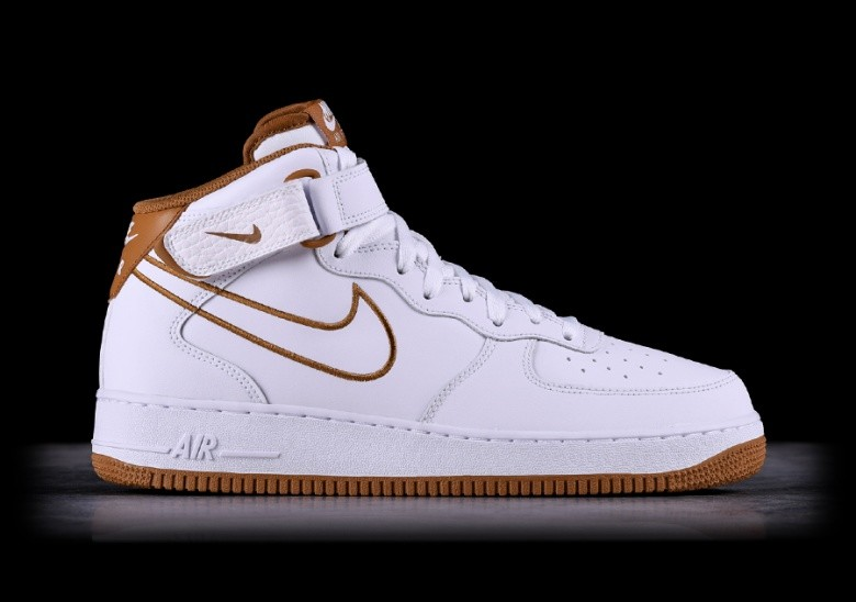 new style 7fc4e 6d042 NIKE AIR FORCE 1 MID  07 LEATHER WHITE
