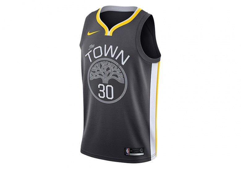 e4d57b42ecc NIKE NBA GOLDEN STATE WARRIORS STEPHEN CURRY SWINGMAN JERSEY ANTHRACITE  cena 1937