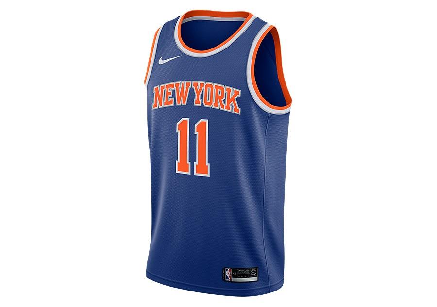 8748b18683f1 NIKE NBA NEW YORK KNICKS FRANK NTILIKINA SWINGMAN ROAD JERSEY RUSH BLUE