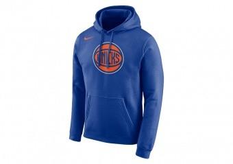 NIKE NBA NEW YORK KNICKS LOGO HOODIE RUSH BLUE