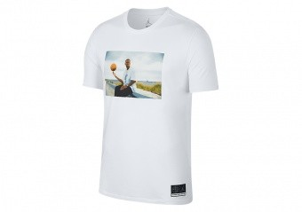 NIKE AIR JORDAN SPORTSWEAR 'HE GOT GAME' JESUS TEE WHITE