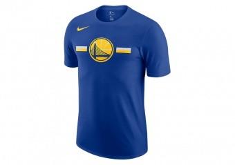 NIKE NBA GOLDEN STATE WARRIORS LOGO DRY TEE RUSH BLUE
