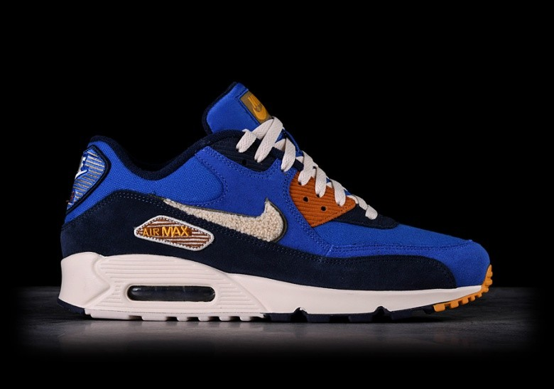 best website aba0f e99a6 NIKE AIR MAX 90 PREMIUM SE GAME ROYAL   LIGHT CREAM
