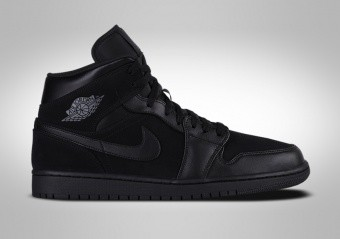 new styles 5bf30 de81f NIKE AIR JORDAN 1 RETRO MID BG TRIPLE BLACK