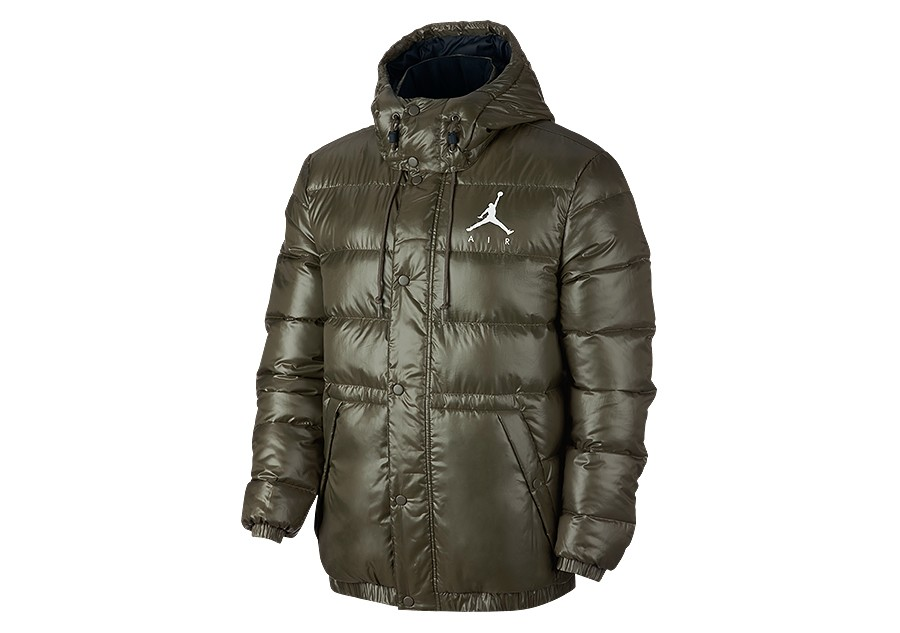 f5068debb10 NIKE AIR JORDAN JUMPMAN PUFFER JACKET OLIVE CANVAS price €152.50 |  Basketzone.net