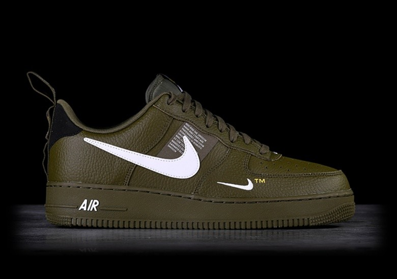 on sale c3557 223d0 NIKE AIR FORCE 1 07 LV8 UTILITY OLIVE CANVAS