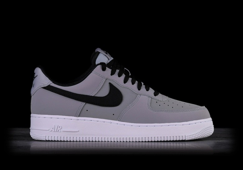 97c927d20 NIKE AIR FORCE 1 '07 LEATHER GREY BLACK price €97.50 | Basketzone.net