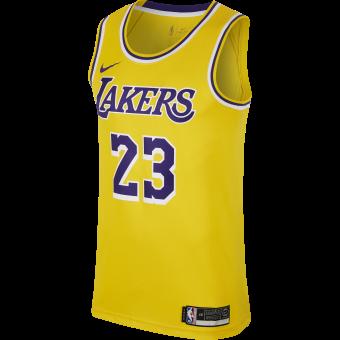NIKE NBA LOS ANGELES LAKERS LEBRON JAMES SWINGMAN ROAD JERSEY