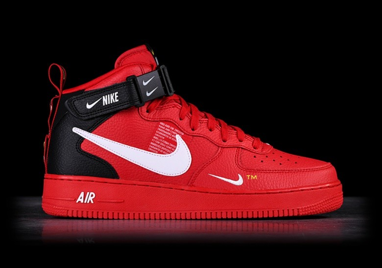 6a2d18f20 NIKE AIR FORCE 1 MID '07 LV8 UTILITY RED price €129.00 | Basketzone.net