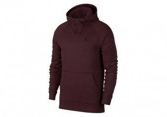 NIKE AIR JORDAN WINGS FLEECE HOODIE BURGUNDY CRUSH