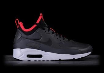Nike Air Max 90 Ultra Mid Winter Black University red Mens