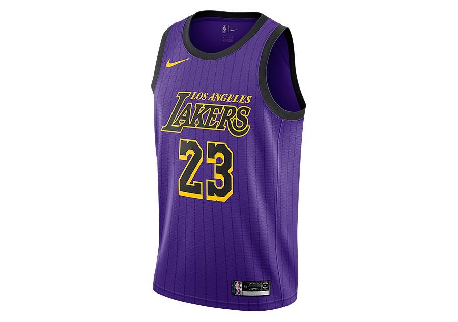 sale retailer e848e 218c3 NIKE NBA LOS ANGELES LAKERS LEBRON JAMES SWINGMAN JERSEY FIELD PURPLE pour  €87,50   Basketzone.net