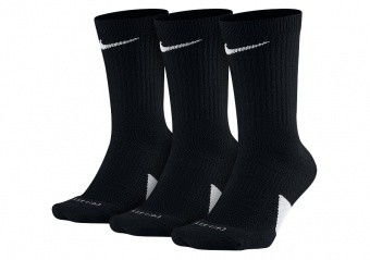 NIKE ELITE CREW 3PACK SOCKS BLACK