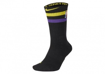 NIKE NBA LOS ANGELES LAKERS ELITE CREW BLACK