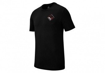 NIKE AIR JORDAN WINGS FLIGHT LOGO TEE BLACK