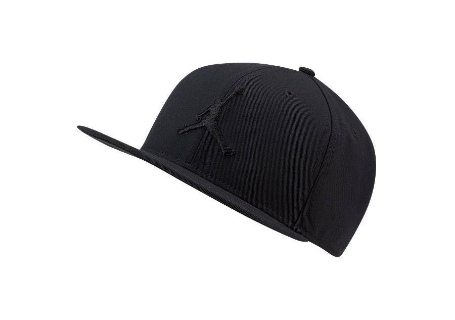 New Nike Unisex Jordan Pro Jumpman Snapback Cap//Hat AR2118-013 Black//White