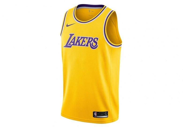 2d2565e3b NIKE NBA LOS ANGELES LAKERS SWINGMAN ROAD JERSEY AMARILLO price ...