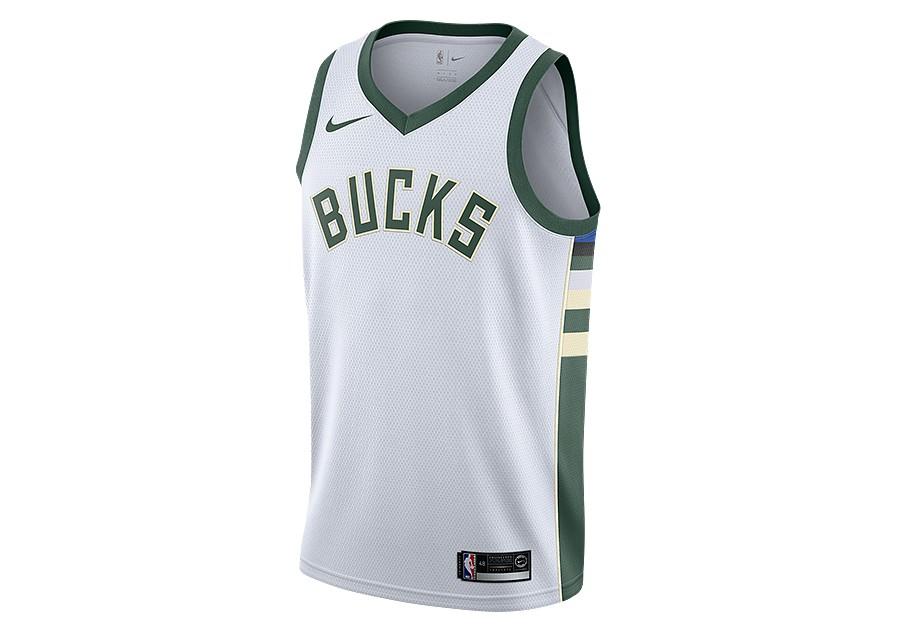 d6a7b655 NIKE NBA MILWAUKEE BUCKS SWINGMAN HOME JERSEY WHITE price €77.50 ...