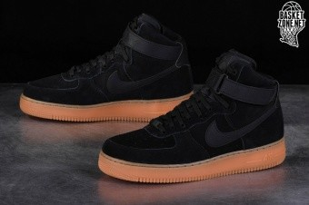 official photos 73f82 045a7 NIKE AIR FORCE 1 HIGH  07 LV8 SUEDE BLACK