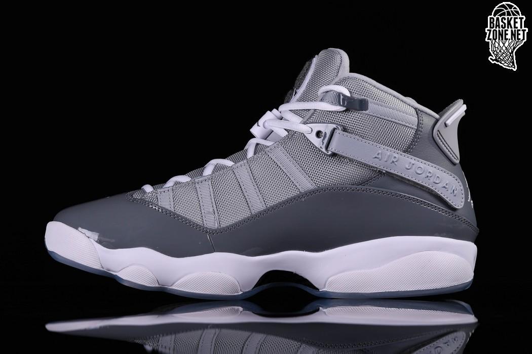 nike air jordan 6 rings cool grey