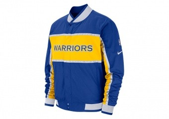 NIKE NBA GOLDEN STATE WARRIORS COURTSIDE ICON JACKET RUSH BLUE