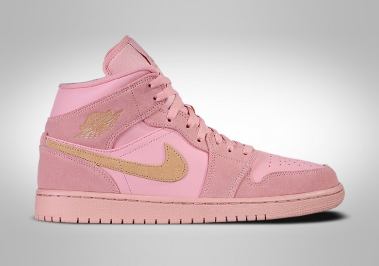NIKE AIR JORDAN 1 RETRO MID SE CORAL GOLD