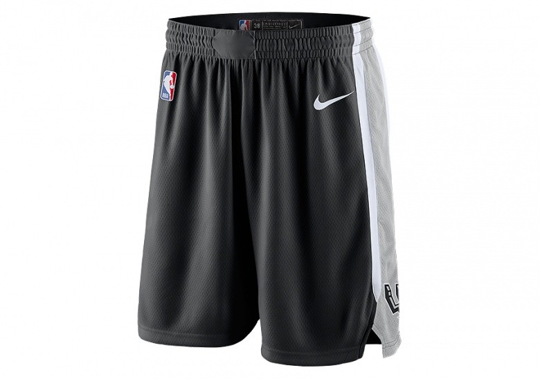 NIKE NBA SAN ANTONIO SPURS SWINGMAN ROAD SHORTS BLACK