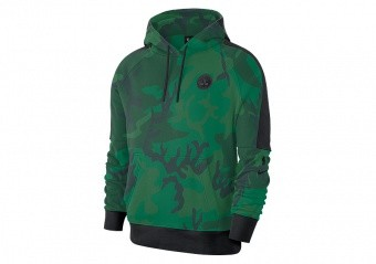 NIKE NBA BOSTON CELTICS COURTSIDE HOODIE CLOVER