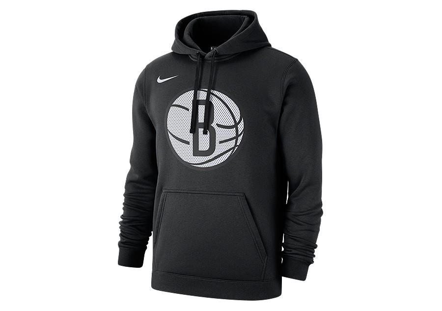 Nike NBA Brooklyn Nets Logo Hoodie Schwarz