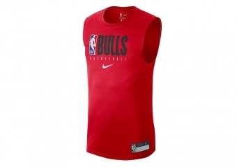 NIKE NBA CHICAGO BULLS TEE UNIVERSITY RED