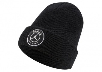 NIKE AIR JORDAN PSG PARIS SAINT-GERMAIN CUFFED BEANIE BLACK